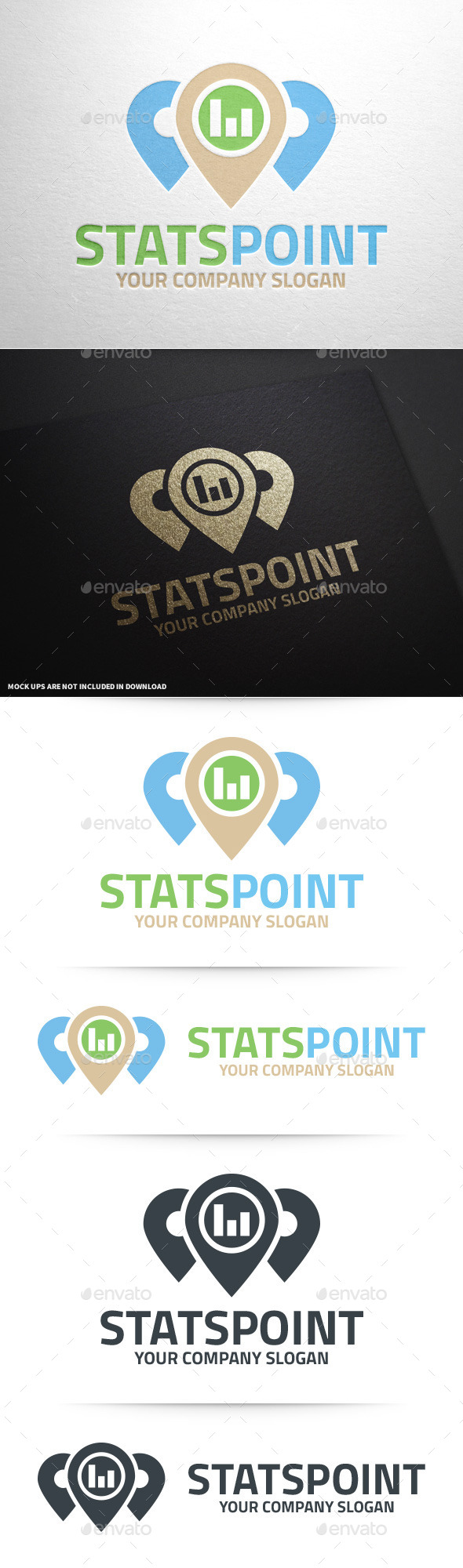 GraphicRiver Stats Point Logo Template 11196468