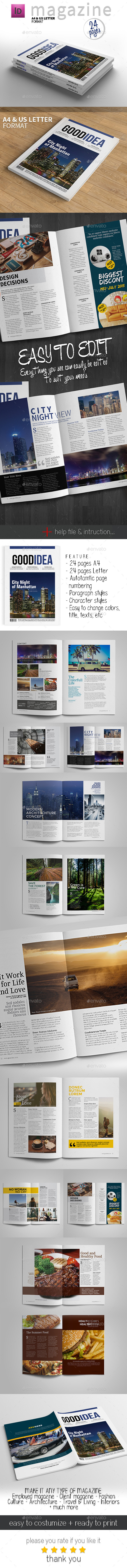 GraphicRiver Magazine Template A4 and Letter 11196611