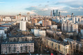 view of the residential and financial development of Moscow - PhotoDune Item for Sale