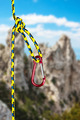 climbing carabiner on the rope - PhotoDune Item for Sale