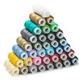 Pyramid of the Sewing multi colored thread - PhotoDune Item for Sale