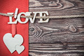 love letters carved from plywood - PhotoDune Item for Sale