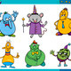 cartoon fantasy characters set - PhotoDune Item for Sale