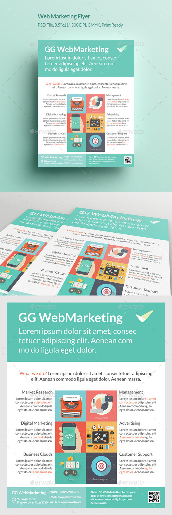 GraphicRiver Web Marketing Flyer 11164964