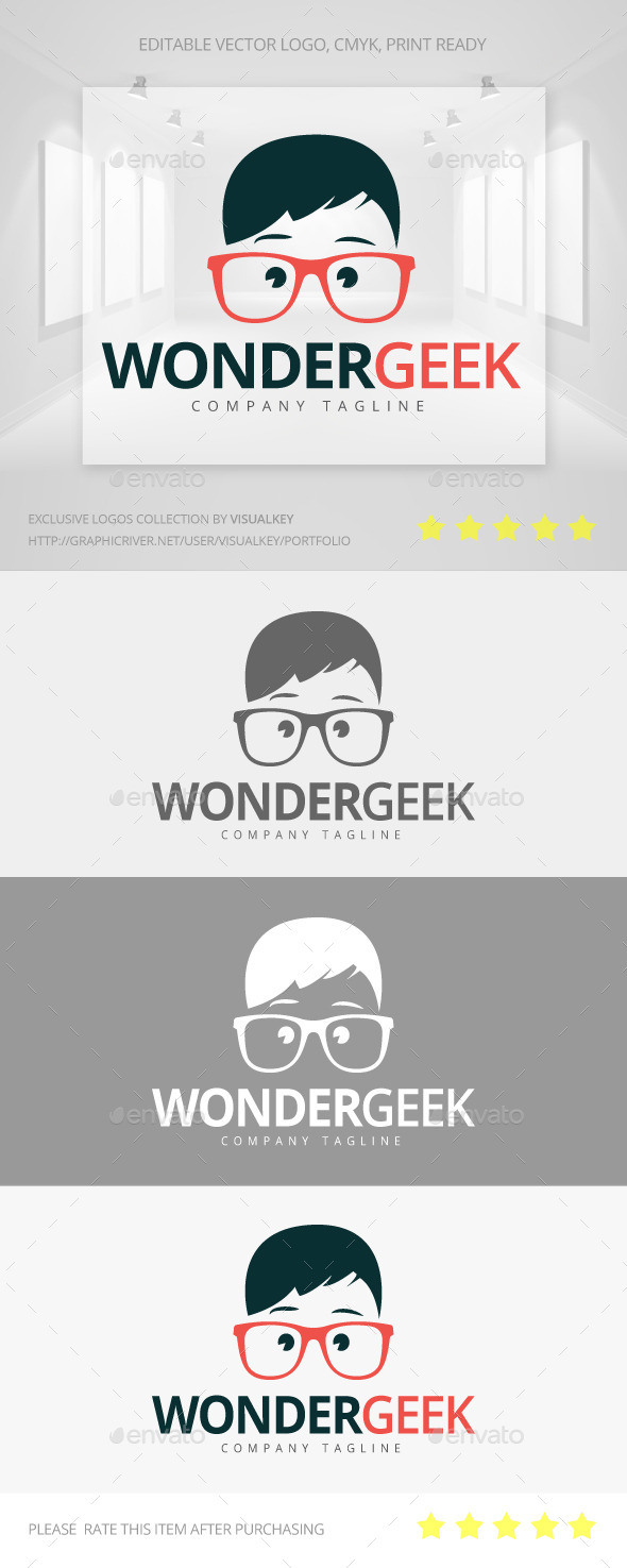 GraphicRiver Wonder Geek Logo 11197618
