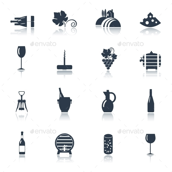 GraphicRiver Wine Icons Set 11197643