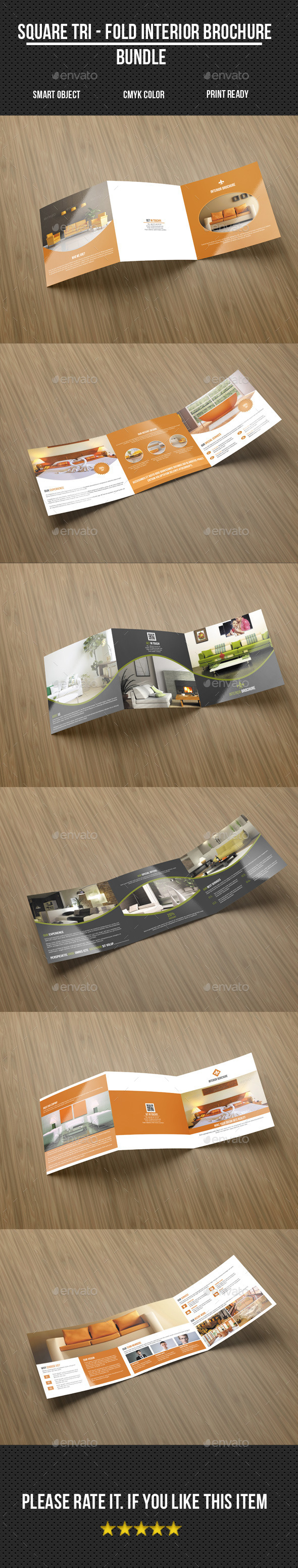 GraphicRiver Square Brochure Bundle 11168460
