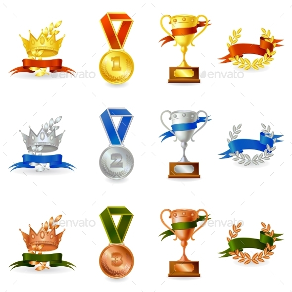 GraphicRiver Set of Awards and Medals 11197653