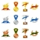 Set of Awards and Medals - GraphicRiver Item for Sale