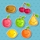 Kawaii Fruit Stickers  - GraphicRiver Item for Sale