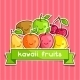Background with Kawaii Smiling Fruits - GraphicRiver Item for Sale