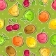 Seamless Pattern with Kawaii Smiling Fruits - GraphicRiver Item for Sale