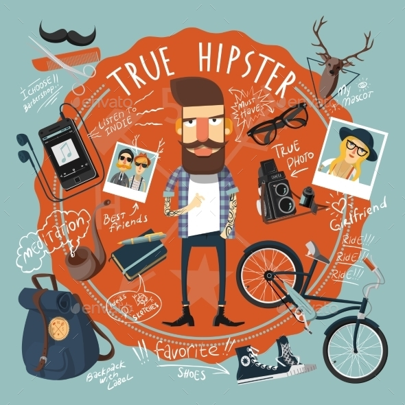 GraphicRiver Hipster Concept Seal Icon 11197689