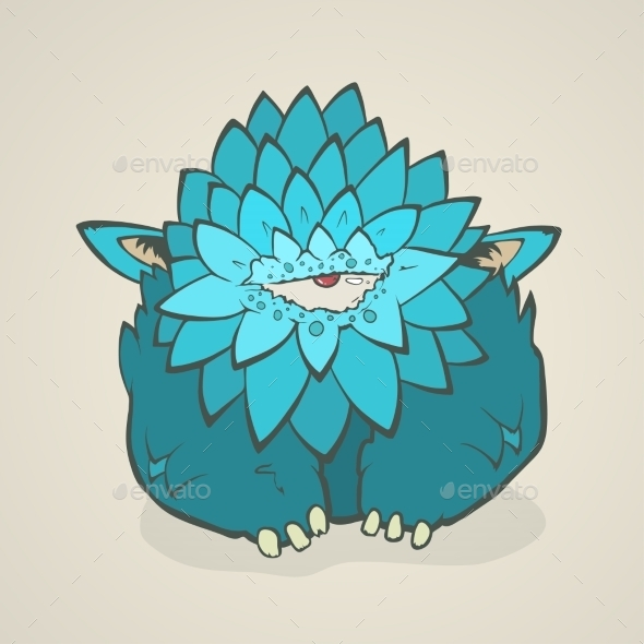 GraphicRiver Cartoon Blue Monster 11197724
