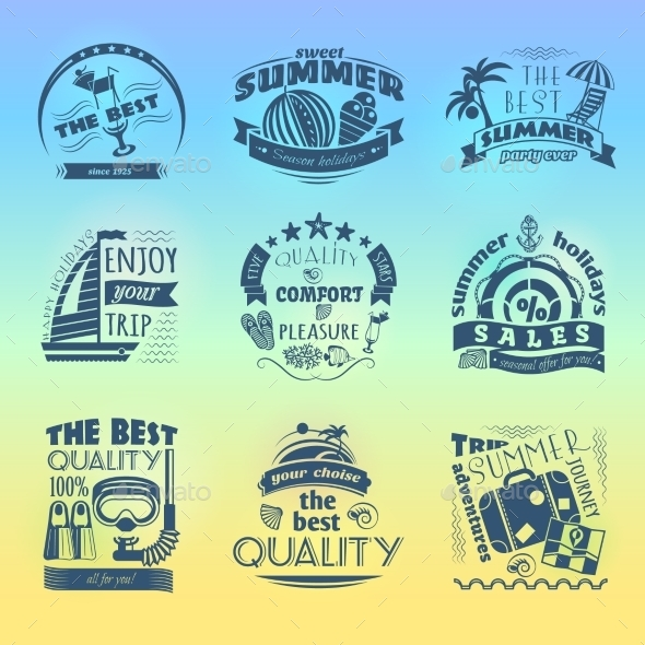 GraphicRiver Summer Holiday Vacation Labels 11197727