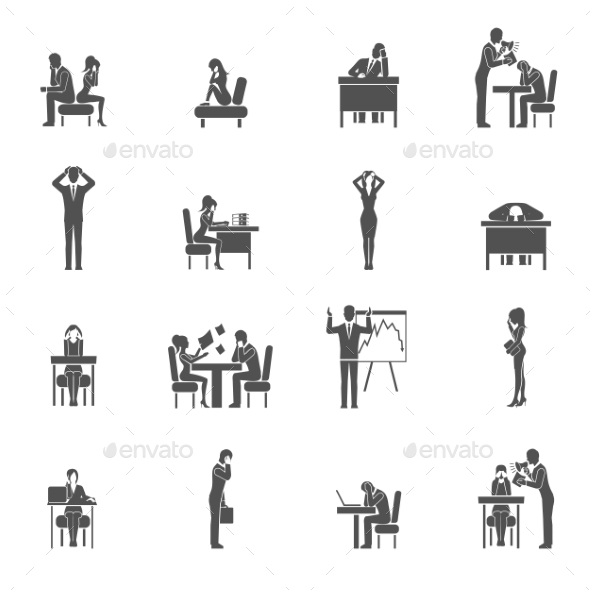 GraphicRiver Depression Icon Set 11197821