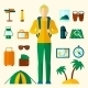 Tourist Icons Flat Set - GraphicRiver Item for Sale