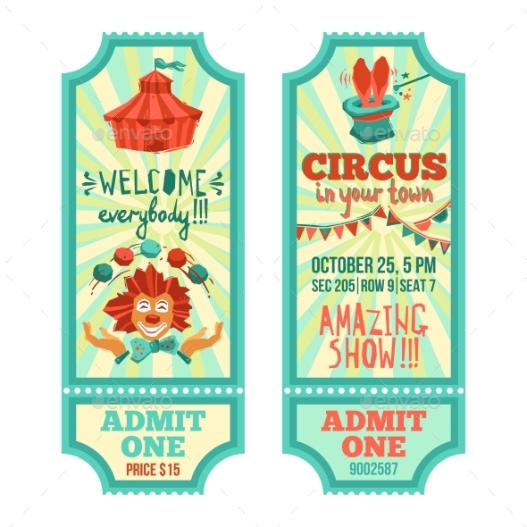 GraphicRiver Circus Tickets Set 11197881