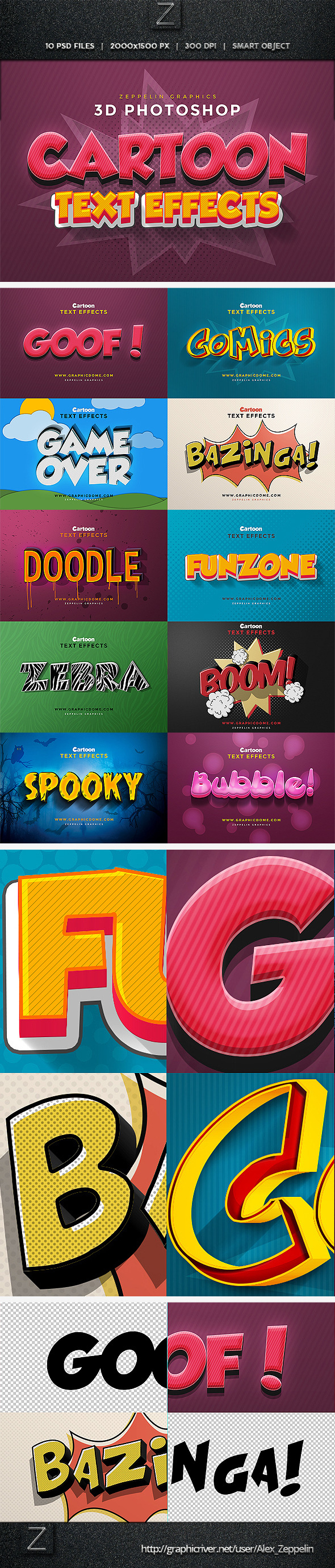 GraphicRiver Cartoon Text Effects 11197891