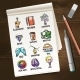 Notebook with Creative Process Sketches - GraphicRiver Item for Sale