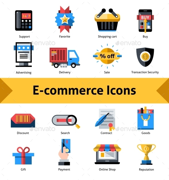 GraphicRiver E-commerce Icons Set 11197930