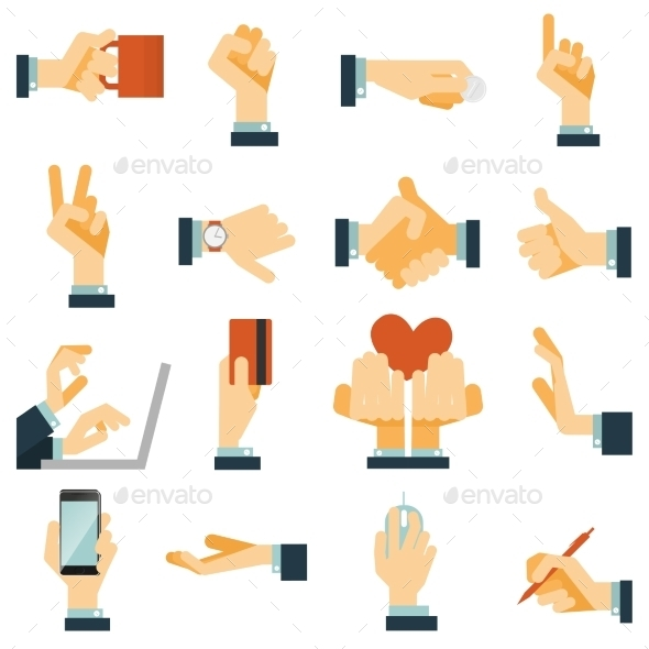 GraphicRiver Hand Icons 11197936