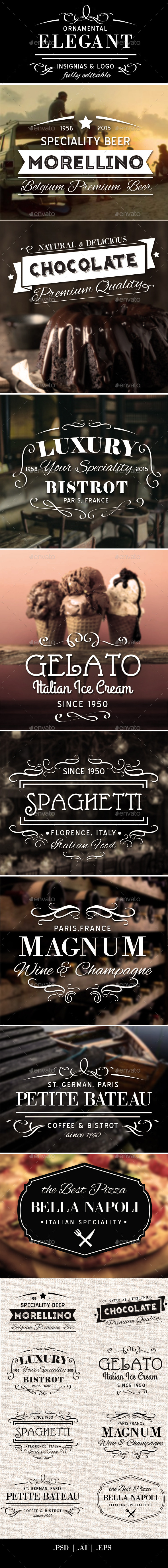 GraphicRiver Elegant Ornamental Insignias & Logo 11197971