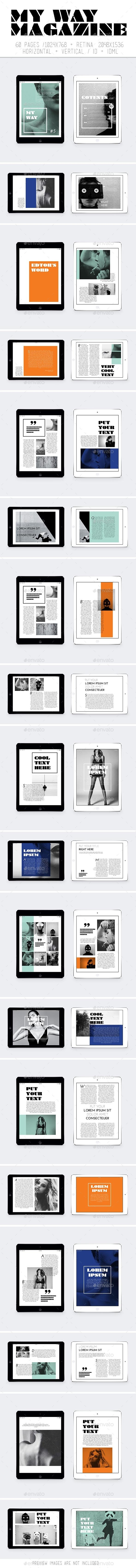 GraphicRiver Ipad&Tablet My Way Magazine 11198101
