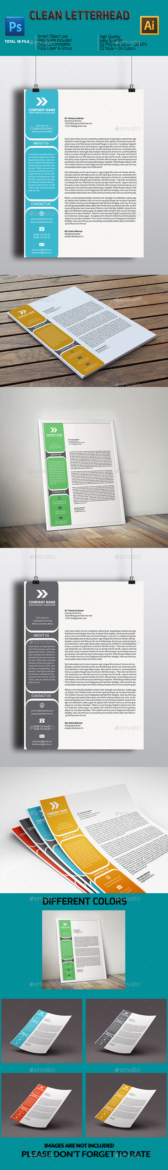 GraphicRiver Clean Letterhead 11199024