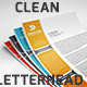 Clean Letterhead - GraphicRiver Item for Sale