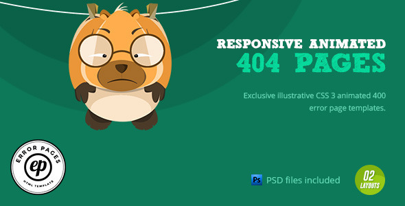 404 Error | CSS Animated Html Template