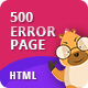 500 Error | CSS Animated HTML Template