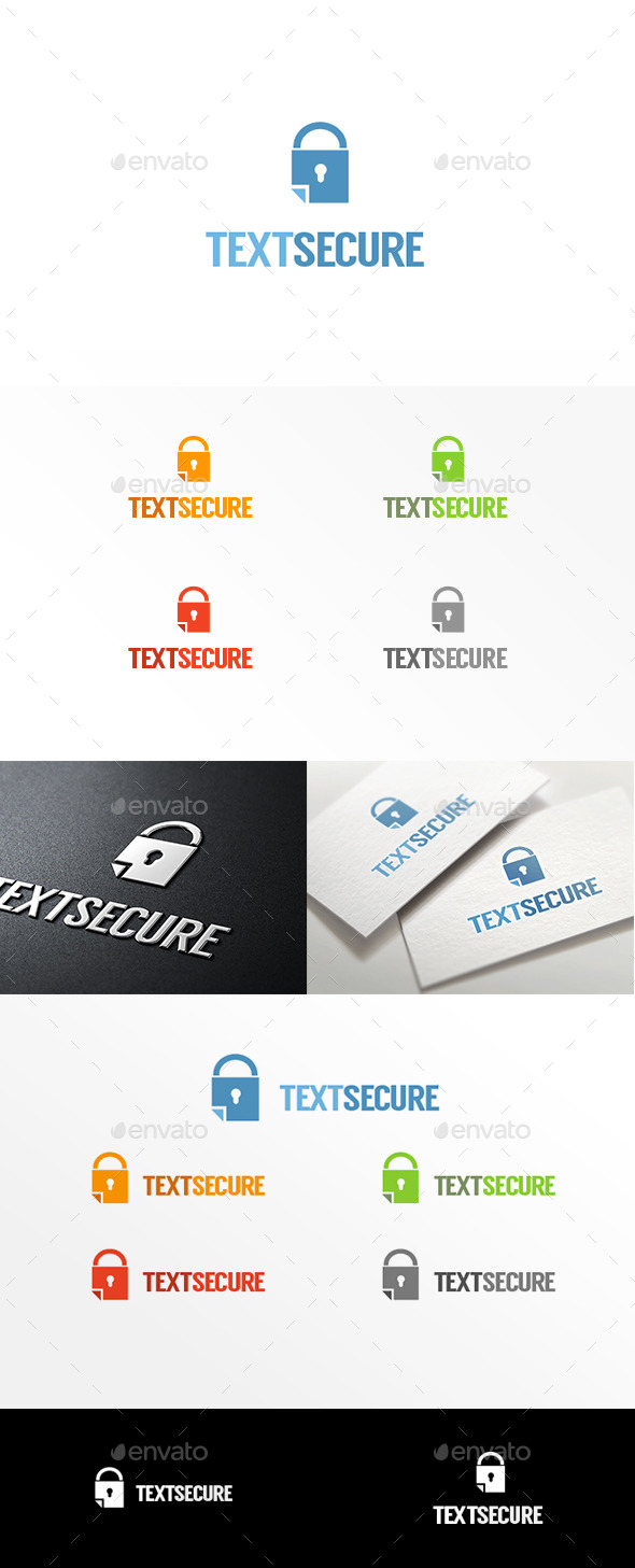GraphicRiver Text Secure Logo Template 11199085
