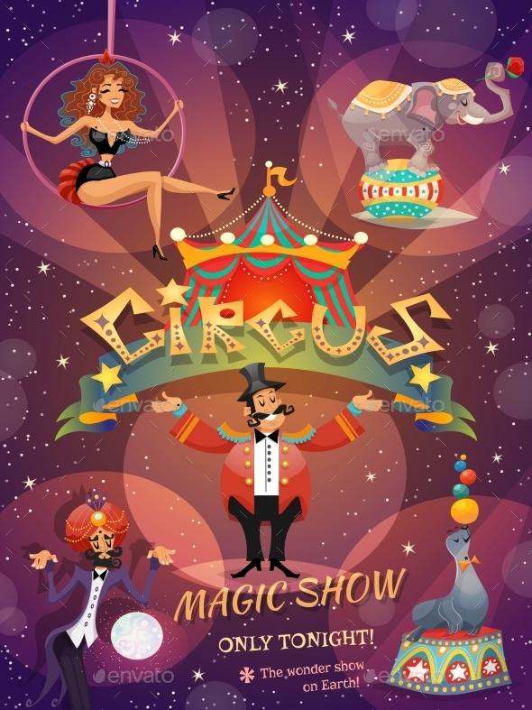 GraphicRiver Circus Show Poster 11199096