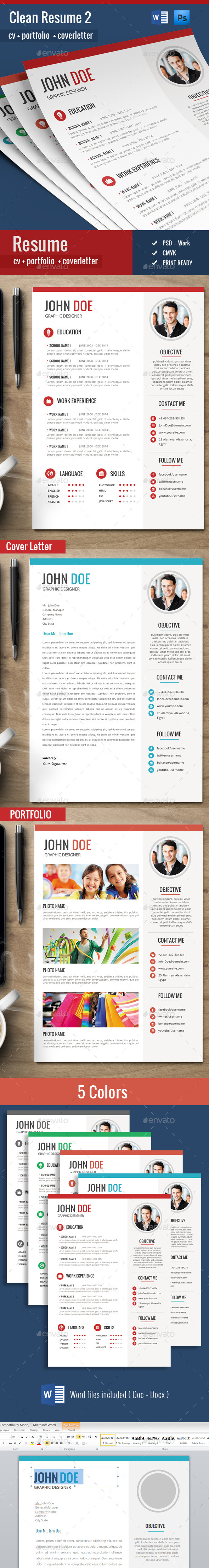 GraphicRiver Cv Resume Set 11199100