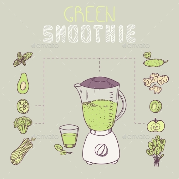 GraphicRiver Green Smoothie Template 11199122