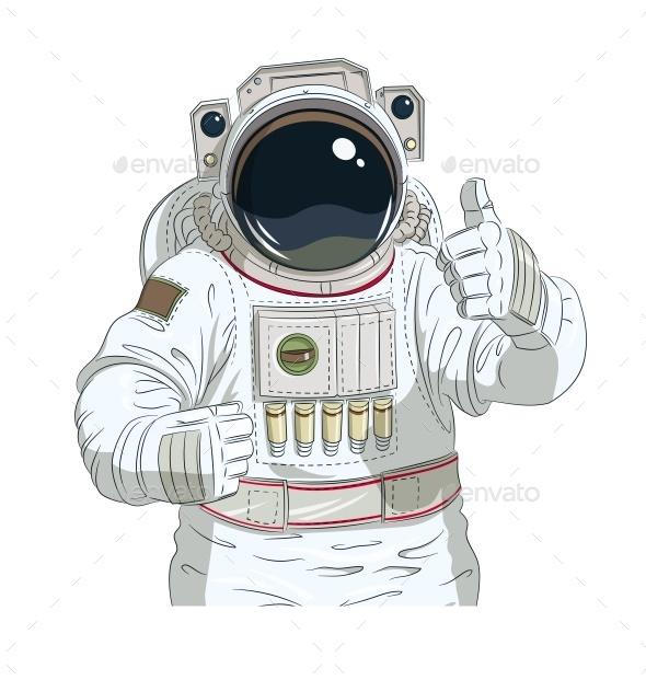 GraphicRiver Astronaut Gesture Okay 11199123