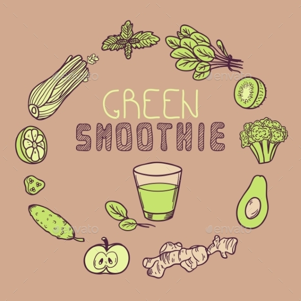 GraphicRiver Green Smoothie Template 11199128