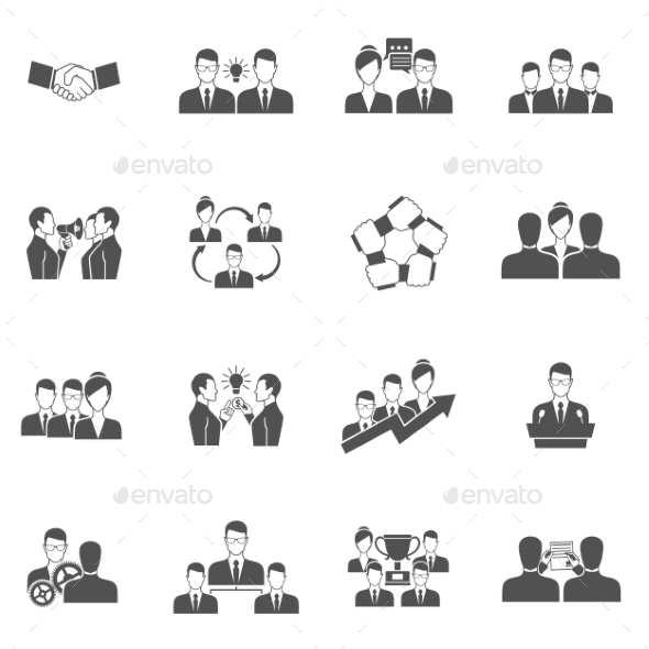 GraphicRiver Teamwork Icons 11199131
