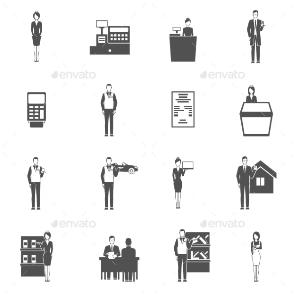 GraphicRiver Salesman Icons Set 11199145