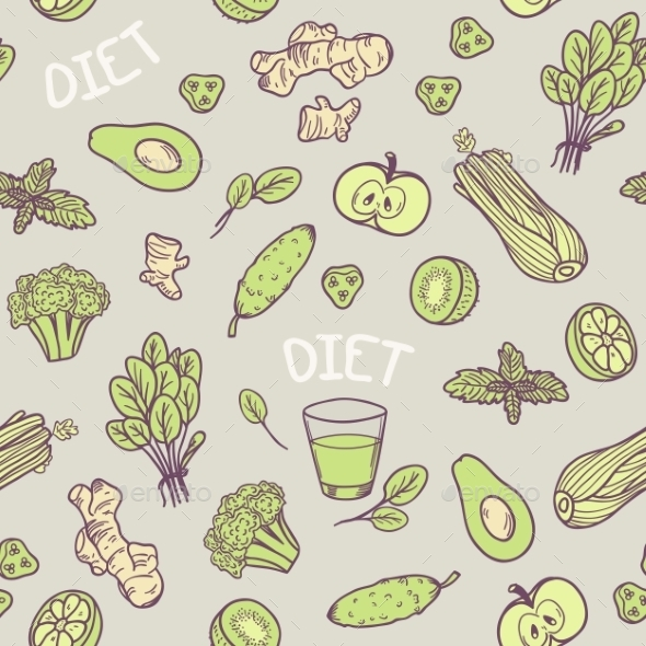 GraphicRiver Vegetables Seamless Pattern 11199166