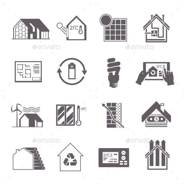 GraphicRiver Energy Saving House Icon 11199169