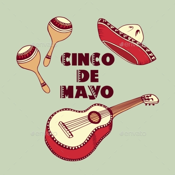 GraphicRiver Cinco De Mayo Background 11199190