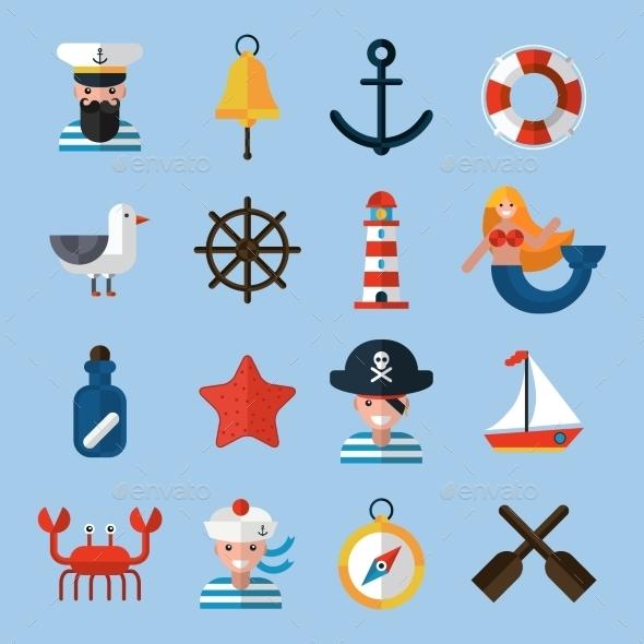 GraphicRiver Nautical Icons Set 11199201