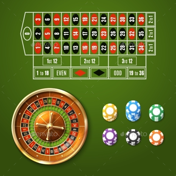 GraphicRiver European Roulette Set 11199207