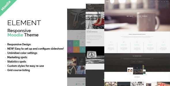 ThemeForest Element Responsive Moodle Theme 11065391