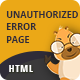 Unauthorized | CSS Animated HTML Template - Miscellaneous Specialty Pages