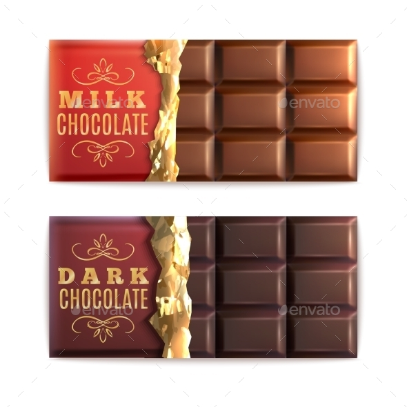 GraphicRiver Chocolate Bars Set 11199249