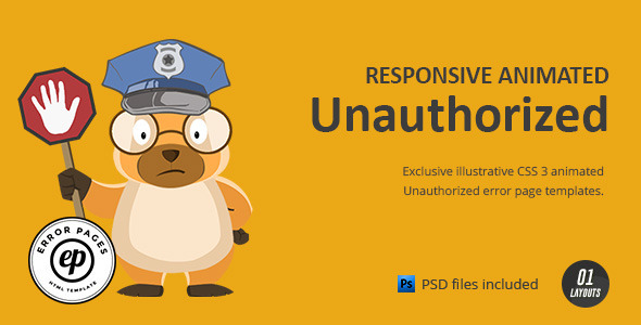 Image of Unauthorized | CSS Animated HTML Template