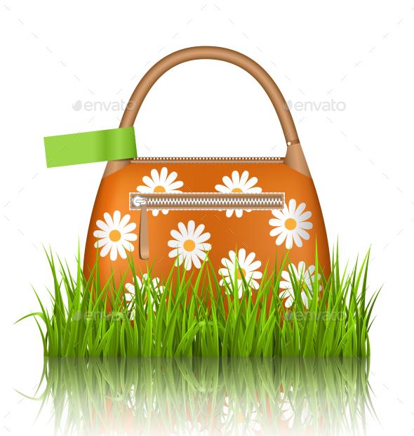 GraphicRiver Orange Bag with Chamomiles in Grass Lawn 11199271